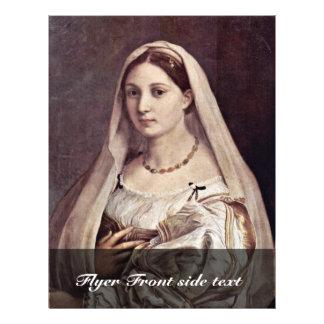 Portrait Of A Woman La Velata By Raffael Flyer