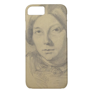 Portrait of a woman, possibly George Sand (1804-76 iPhone 7 Case
