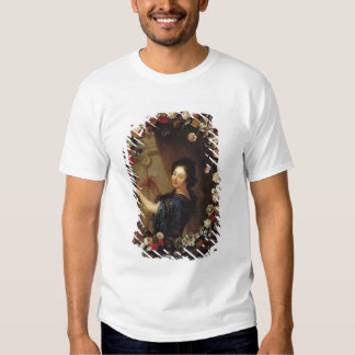 Portrait of a Woman Surrounded by Flowers Tee Shirts