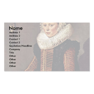 Portrait Of A Woman With Lace Collar And Bonnet Business Cards