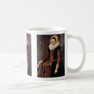 Portrait Of A Woman With Lace Collar And Bonnet Mug