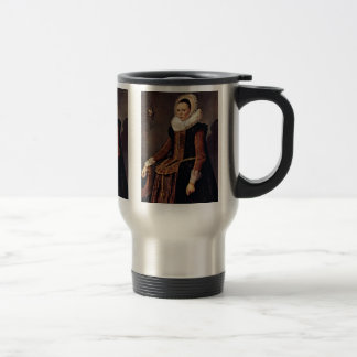 Portrait Of A Woman With Lace Collar And Bonnet Coffee Mug