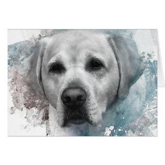 Portrait of a Yellow Labrador Retriever Card