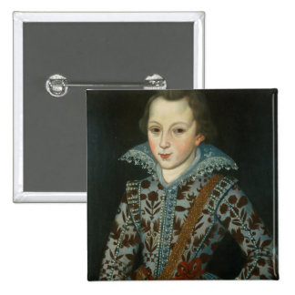Portrait of a Young Boy, Aged Five 15 Cm Square Badge