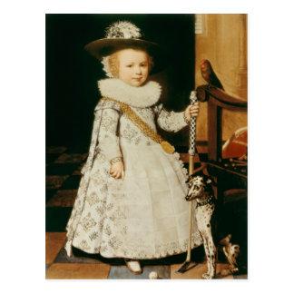 Portrait of a Young Boy Postcard