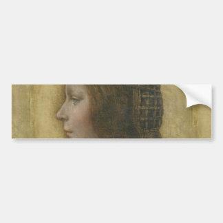Portrait of a Young Fiancee by Leonardo da Vinci Bumper Sticker