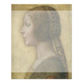 Portrait of a Young Fiancee by Leonardo da Vinci Flyers