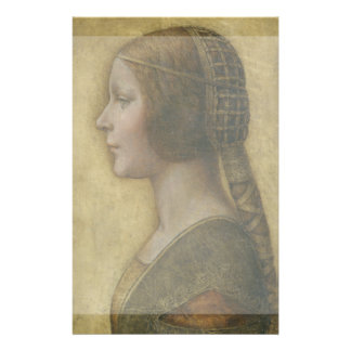 Portrait of a Young Fiancee by Leonardo da Vinci Flyer Design