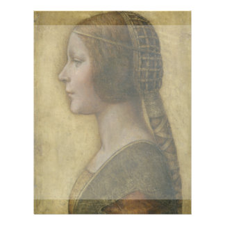 Portrait of a Young Fiancee by Leonardo da Vinci Flyer