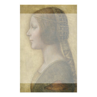 Portrait of a Young Fiancee by Leonardo da Vinci Personalized Flyer