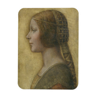 Portrait of a Young Fiancee by Leonardo da Vinci Magnet