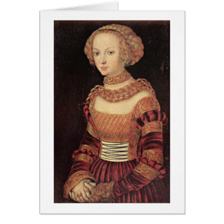 Portrait Of A Young Lady By Lucas Cranach (I) Card