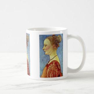 Portrait Of A Young Lady By Pollaiuolo Antonio Coffee Mug
