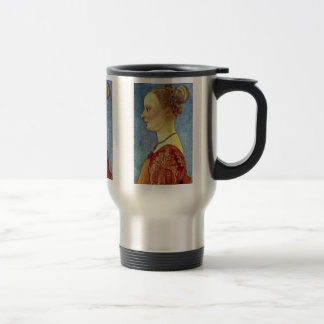 Portrait Of A Young Lady By Pollaiuolo Antonio Coffee Mugs