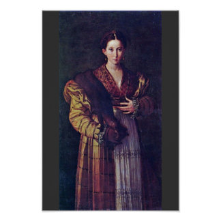Portrait Of A Young Lady Called Anteia. Poster
