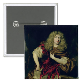 Portrait of a Young Man, 1676 15 Cm Square Badge