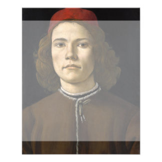 Portrait of a Young Man by Botticelli Flyer Design