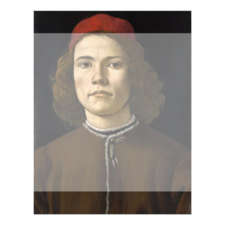 Portrait of a Young Man by Botticelli Full Color Flyer