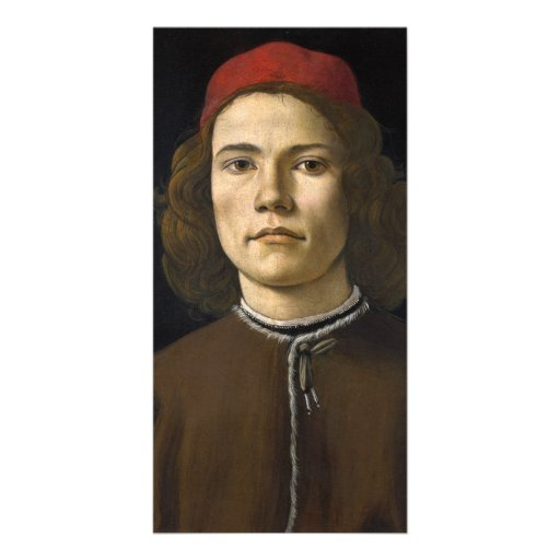 Portrait of a Young Man by Botticelli Picture Card