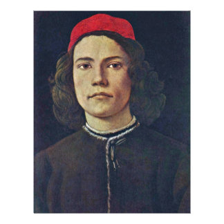 Portrait Of A Young Man By Botticelli Sandro Custom Flyer