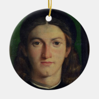 Portrait of a Young Man, c.1505 (oil on panel) Round Ceramic Decoration