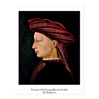 Portrait Of A Young Man In Profile By Masaccio Post Cards