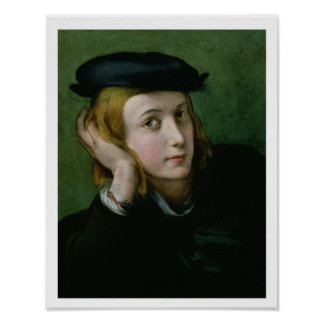 Portrait of a Young Man (oil on panel) Poster