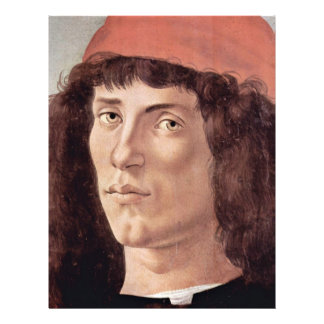 Portrait Of A Young Man With Red Cap By Botticelli 21.5 Cm X 28 Cm Flyer
