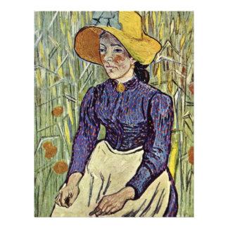 Portrait Of A Young Peasant Girl By Vincent Van Go 21.5 Cm X 28 Cm Flyer
