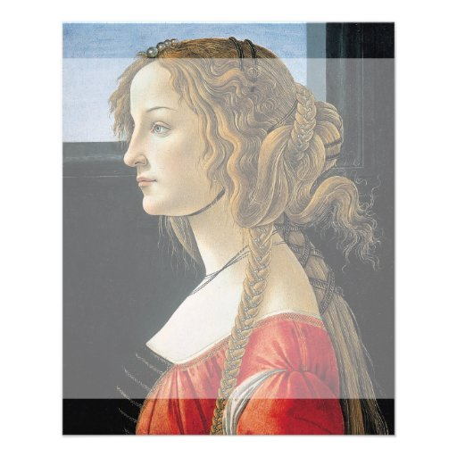 Portrait of a Young Woman by Botticelli Full Color Flyer