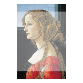 Portrait of a Young Woman by Botticelli Flyer Design