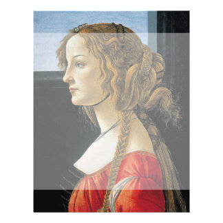 Portrait of a Young Woman by Botticelli Flyer