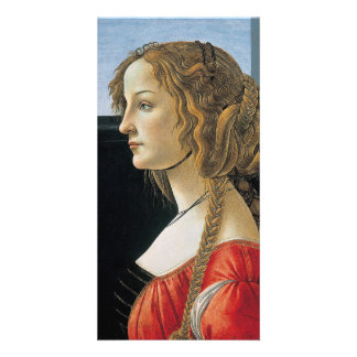 Portrait of a Young Woman by Botticelli Photo Card Template