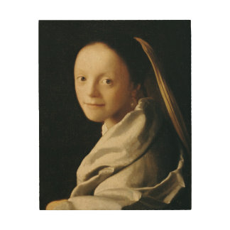 Portrait of a Young Woman, c.1663-65 Wood Print