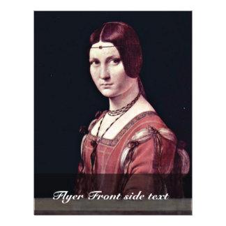 Portrait Of A Young Woman (La Belle Ferronière) By 21.5 Cm X 28 Cm Flyer