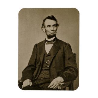 Portrait of Abraham Lincoln (1809-65) (b/w photo) Magnet