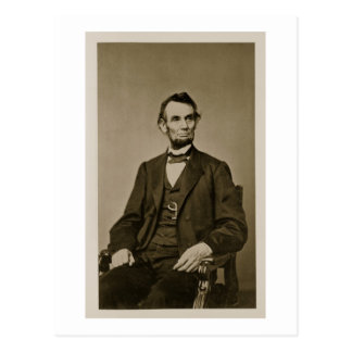 Portrait of Abraham Lincoln (1809-65) (b/w photo) Postcard