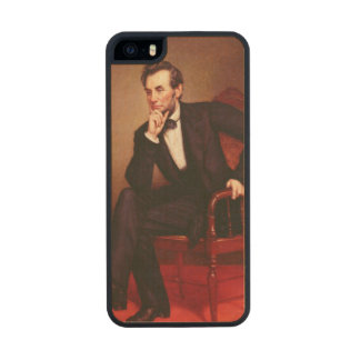 Portrait of Abraham Lincoln Carved® Maple iPhone 5 Case