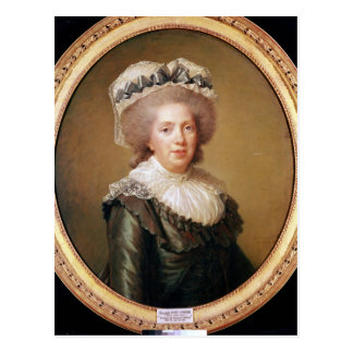 Portrait of Adelaide de France  1791 Postcard