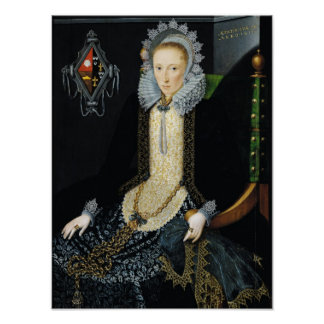 Portrait of Adriana van Nesse, 1611 Poster