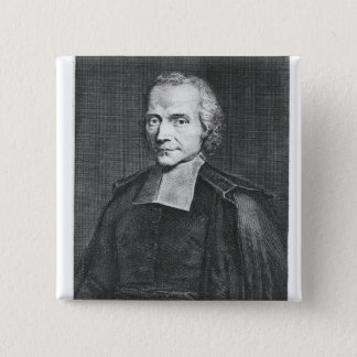 Portrait of Adrien Baillet 15 Cm Square Badge