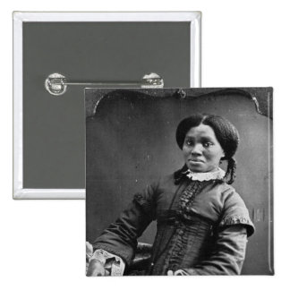 Portrait of African American Woman ~ 1850 15 Cm Square Badge