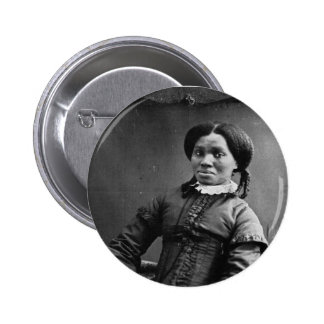 Portrait of African American Woman ~ 1850 6 Cm Round Badge