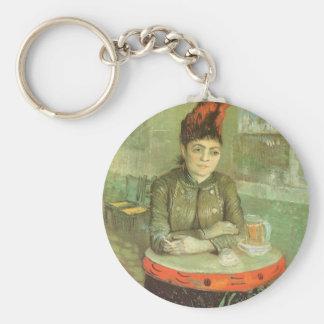 Portrait of Agostina Segatori by Vincent van Gogh Basic Round Button Key Ring