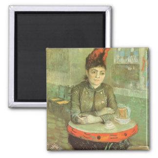Portrait of Agostina Segatori by Vincent van Gogh Square Magnet