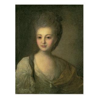 Portrait of Aleksandra P. Struyskaya  1772 Postcard