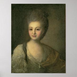 Portrait of Aleksandra P. Struyskaya  1772 Poster