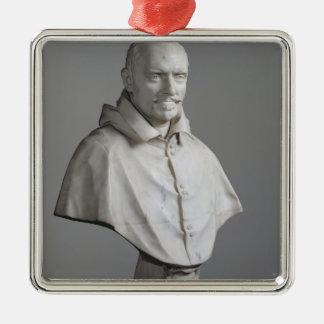 Portrait of Alessandro Silver-Colored Square Decoration