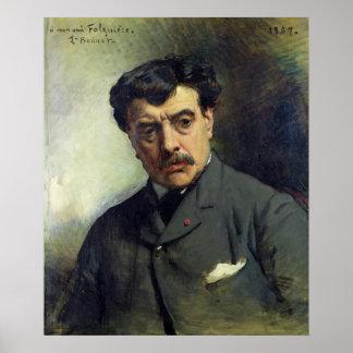 Portrait of Alexander Falguiere  1887 Poster