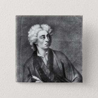 Portrait of Alexander Pope 15 Cm Square Badge